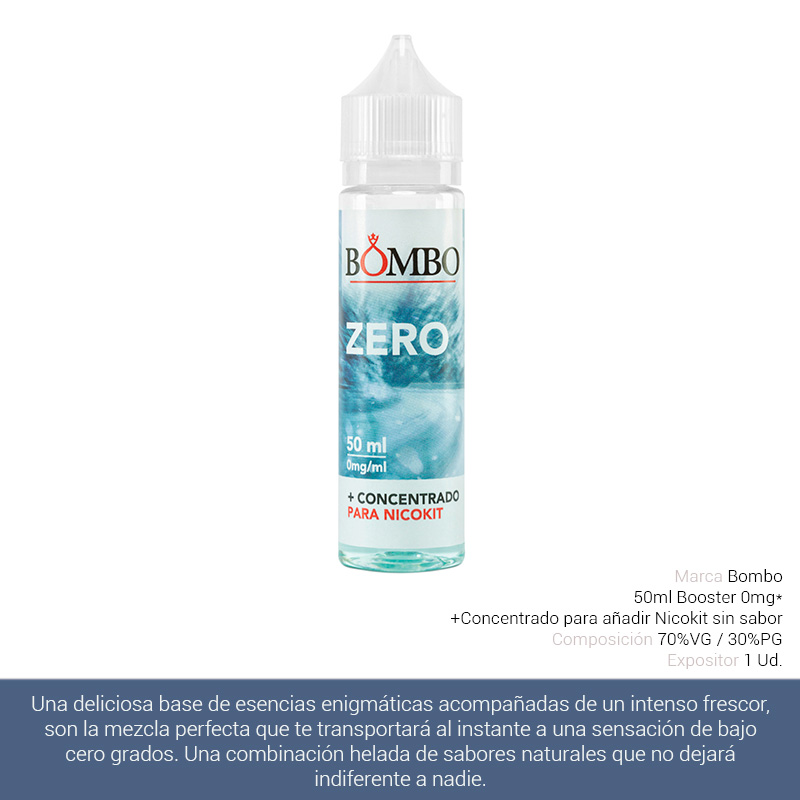 BOMBO E-LIQUID ZERO BOOSTER 00 mg 50 ml 1 Ud.