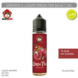 VAPEAPE E-LIQUID GREEN TEA 00 mg 50 ml 1 Ud. VAPEAPE4