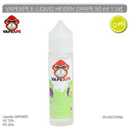 VAPEAPE E-LIQUID HEISEN GRAPE 00 mg 50 ml 1 Ud.