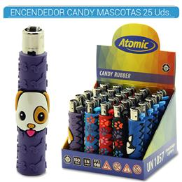 ATOMIC ENC. CANDY RUBBER MASCOTAS 25 Uds. 39.08006