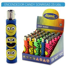 ATOMIC ENC. CANDY RUBBER SONRISAS 25 Uds. 39.08008