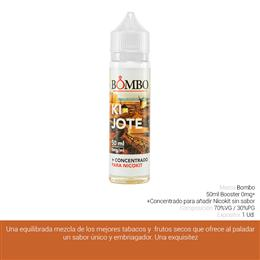 BOMBO E-LIQUID KIJOTE BOOSTER 00 mg 50 ml 1 Ud.