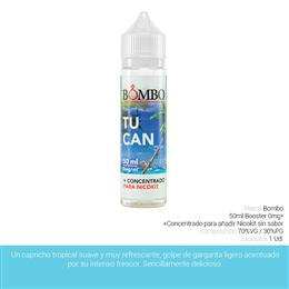 BOMBO E-LIQUID TUCAN BOOSTER 00 mg 50 ml 1 Ud.