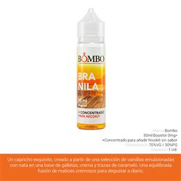 BOMBO E-LIQUID BRANILA BOOSTER 00 mg 50 ml 1 Ud.