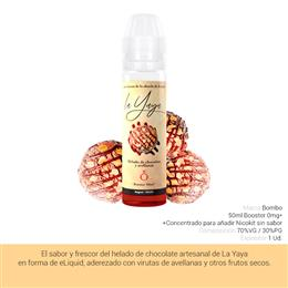 BOMBO E-LIQUID LA YAYA HELADO CHOCOLATE BOOSTER 00 mg 50 ml 1 Ud.
