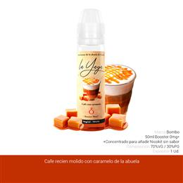 BOMBO E-LIQUID LA YAYA CAFE CON CARAMELO BOOSTER 00 mg 50 ml 1 Ud.