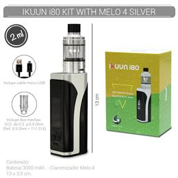 ELEAF IKUUN i80 KIT WITH MELO 4 SILVER (3000 mAh 2 ml TPD EU VERSION) [275409]