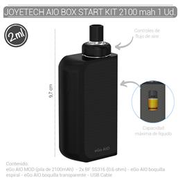 JOYETECH AIO BOX START KIT 2100 mAh BLACK/BLACK 1 Ud. [403630]
