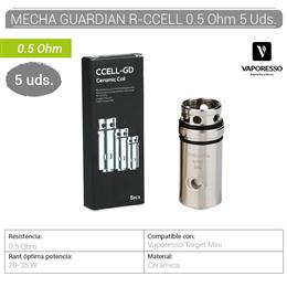 VAPORESSO MECHA GUARDIAN R-CCELL 0.5 Ohm 5 Uds.[230048]
