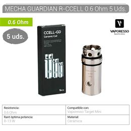 VAPORESSO MECHA GUARDIAN R-CCELL 0.6 Ohm 5 Uds.[230048]