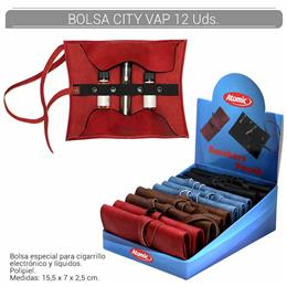BOLSA ATOMIC CIGARRILLO ELEC. + CARGAS CITY VAP 12 Uds. 04.07500