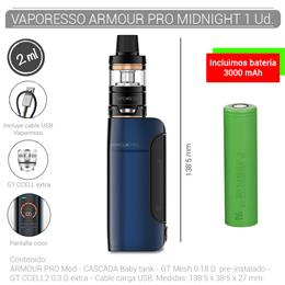 VAPORESSO ARMOUR PRO KIT 2 ml MIDNIGHT  BLUE 1 Ud. 99645048