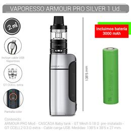 VAPORESSO ARMOUR PRO KIT 2 ml SILVER 1 Ud. 99645049