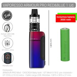 VAPORESSO ARMOUR PRO KIT 2 ml RED & BLUE 1 Ud. 99645052