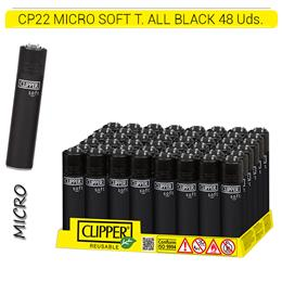 CLIPPER CP22 MICRO SOFT T. ALL BLACK CAB. NEGRO 48 Uds.