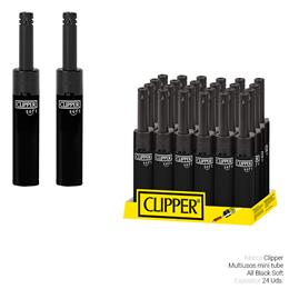 CLIPPER ENC. MTM143 MINI TUBE D24 ALL BLACK SOFT 24 Uds.