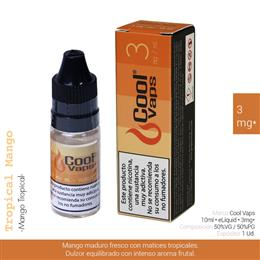 COOL VAPS E-LIQUID MANGO TROPICAL 03 mg 10 ml 1 Ud. CV032