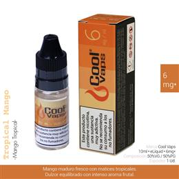 COOL VAPS E-LIQUID MANGO TROPICAL 06 mg 10 ml 1 Ud. CV033
