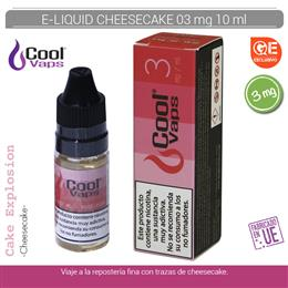 COOL VAPS E-LIQUID CHEESE CAKE 03 mg 10 ml 1 Ud. CV036