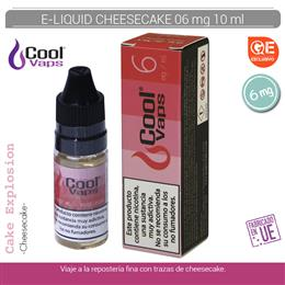 COOL VAPS E-LIQUID CHEESE CAKE 06 mg 10 ml 1 Ud. CV037
