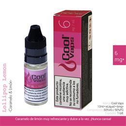 COOL VAPS E-LIQUID CARAMELO & LIMON 06 mg 10 ml 1 Ud. CV039