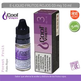 COOL VAPS E-LIQUID FRUTOS ROJOS 03 mg 10 ml 1 Ud. CV040