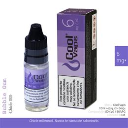 COOL VAPS E-LIQUID CHICLE XXX 06 mg 10 ml 1 Ud. CV043