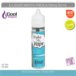 COOL VAPS E-LIQUID SHAKENVAPE MENTA FRESCA 00 mg 50 ml 1 Ud. CVS004