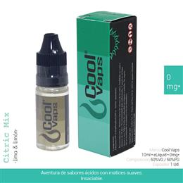 COOL VAPS E-LIQUID LIMA & LIMON 00 mg 10 ml 1 Ud. CV010