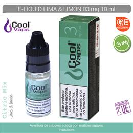 COOL VAPS E-LIQUID LIMA & LIMON 03 mg 10 ml 1 Ud. CV048