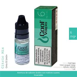 COOL VAPS E-LIQUID LIMA & LIMON 06 mg 10 ml 1 Ud. CV049