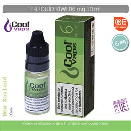 COOL VAPS E-LIQUID KIWI 06 mg 10 ml 1 Ud. CV051