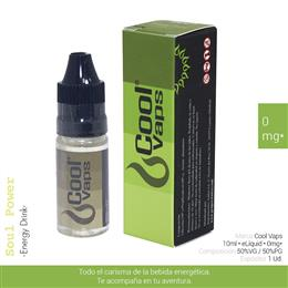 COOL VAPS E-LIQUID ENERGY DRINK 00 mg 10 ml 1 Ud. CV012