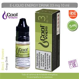 COOL VAPS E-LIQUID ENERGY DRINK 03 mg 10 ml 1 Ud. CV052