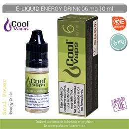 COOL VAPS E-LIQUID ENERGY DRINK 06 mg 10 ml 1 Ud. CV053