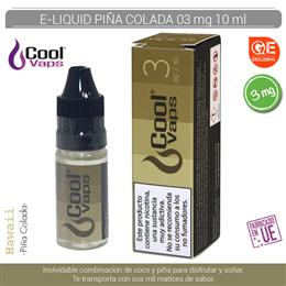 COOL VAPS E-LIQUID PIÑA COLADA 03 mg 10 ml 1 Ud. CV054