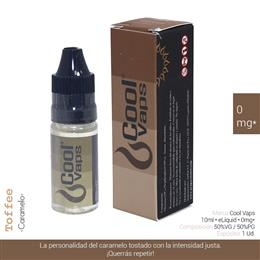 COOL VAPS E-LIQUID CARAMELO 00 mg 10 ml 1 Ud. CV014