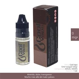 COOL VAPS E-LIQUID BROWNIE 00 mg 10 ml 1 Ud. CV015