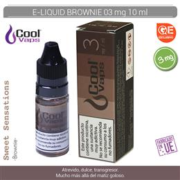 COOL VAPS E-LIQUID BROWNIE 03 mg 10 ml 1 Ud. CV058
