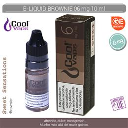 COOL VAPS E-LIQUID BROWNIE 06 mg 10 ml 1 Ud. CV059