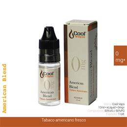 COOL VAPS E-LIQUID AMERICAN BLEND TABACO 00 mg 10 ml 1 Ud. CV069