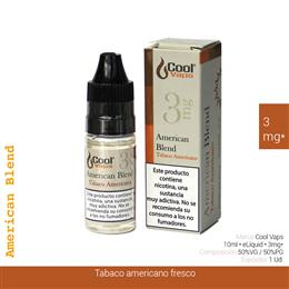 COOL VAPS E-LIQUID AMERICAN BLEND TABACO 03 mg 10 ml 1 Ud. CV070