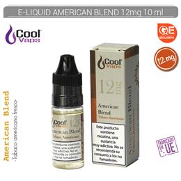 COOL VAPS E-LIQUID AMERICAN BLEND TABACO 12 mg 10 ml 1 Ud. CV072
