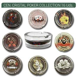 CENICERO CRISTAL POKER COLLECTION 16 Uds. 29/3456