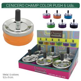 CENICERO CHAMP COLORFUL PUSH 9 cm. 6 Uds. 40447636