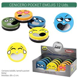 CENICERO ATOMIC POCKET EMOJIS 12 Uds. 02.46801