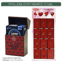 PITILLERA ATOMIC PVC STIFF RED HEARTS 12 Uds. 04.50715