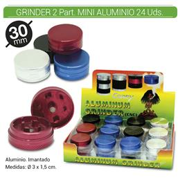 GRINDER 2 Part. CONEY ALU. 30 mm. 24 Uds. 02.12368