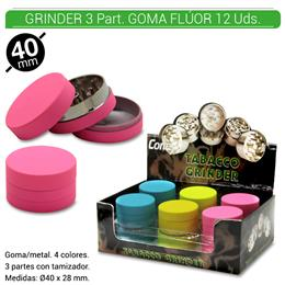 GRINDER 3 Part. CONEY FLUORADO 12 Uds. 02.12412