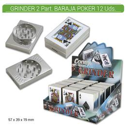 GRINDER 2 Part. CONEY BARAJA POKER 12 Uds. 02.12323